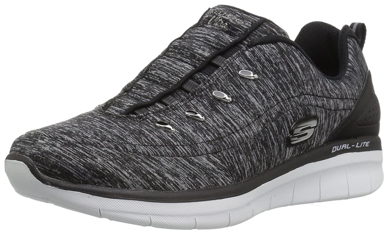 Skechers Women's Synergy 2.0-Scouted Fashion Sneaker B01MZ5QESQ 11 B(M) US|Black/White