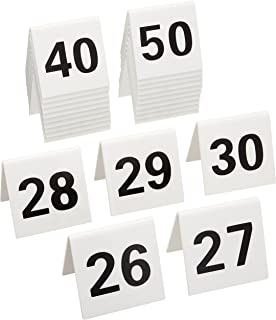 New Star 26764 26 to 50 Tent Style Acrylic Table Numbers 2 by 1.7-  sc 1 st  Amazon.com & Amazon.com: New Star 25 pcs Plastic Tent Style Table Numbers 3