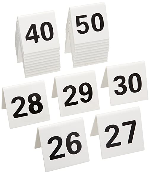 New Star 26764 26 to 50 Tent Style Acrylic Table Numbers 2 by 1.7-  sc 1 st  Amazon.com & Amazon.com | New Star 26764 26 to 50 Tent Style Acrylic Table ...