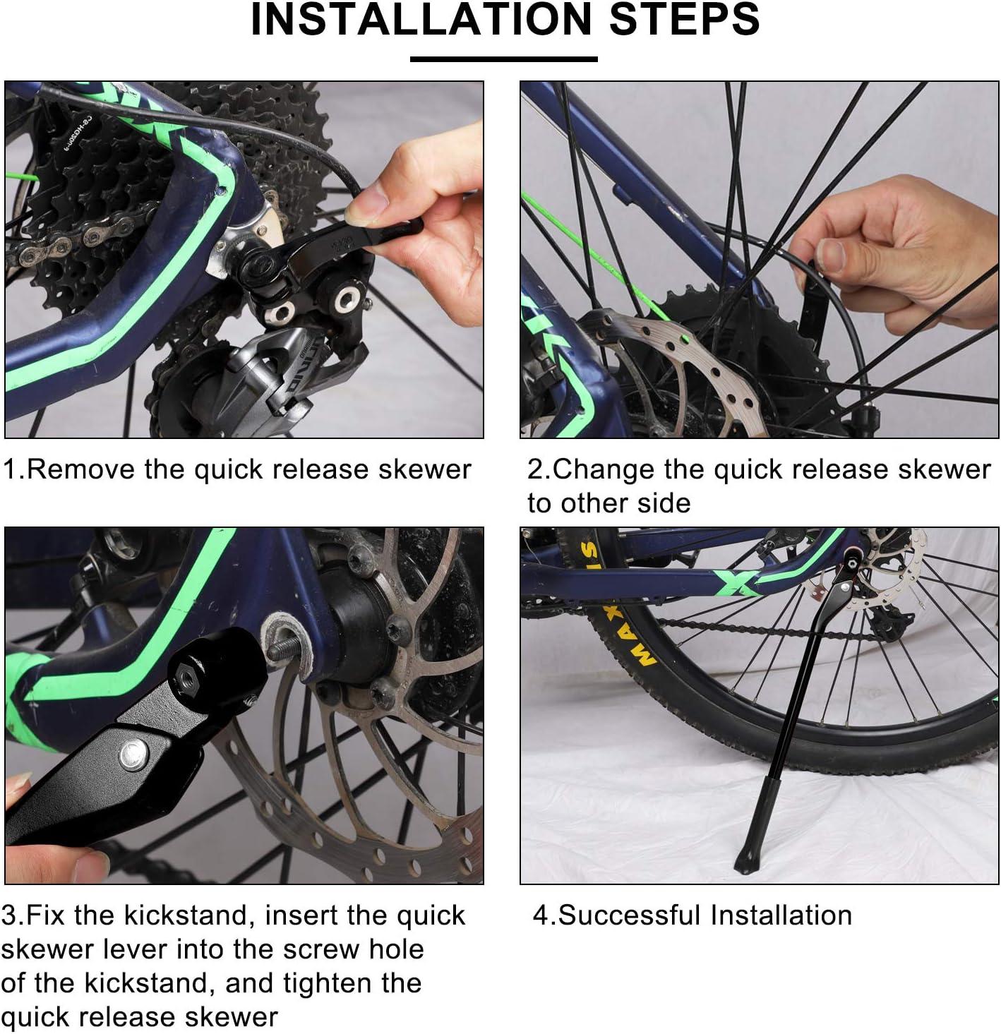 Side stand//reggiciclo Aluminium MTB-Bike City Bike-Lung .29 cm.