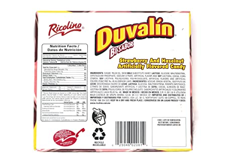 Amazon.com : Duvalin Hazelnut/strawberry soft candy (4 Pack - 72 Units) : Grocery & Gourmet Food