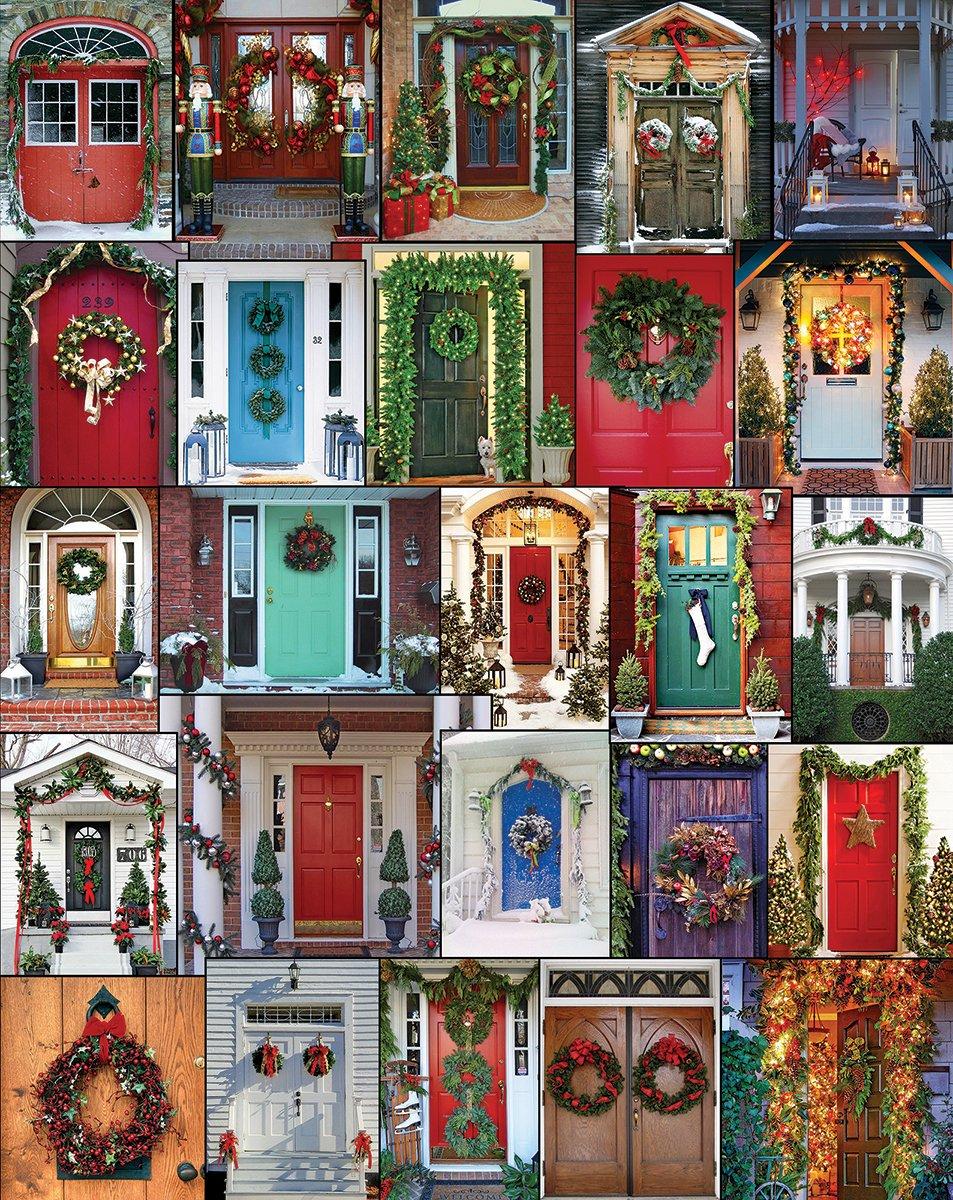 Amazon.com White Mountain Puzzles Holiday Doors - 1000 Piece Jigsaw Puzzle Toys u0026 Games & Amazon.com: White Mountain Puzzles Holiday Doors - 1000 Piece Jigsaw ...