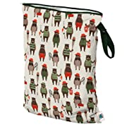 Planet Wise Wet Bag, Large, Brawny Bears (Made in The USA)