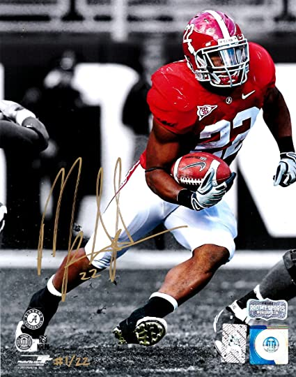 014a20dde Mark Ingram Autographed Signed Alabama Crimson Tide Spotlight 8x10 Photo -  Red Jersey - Limited