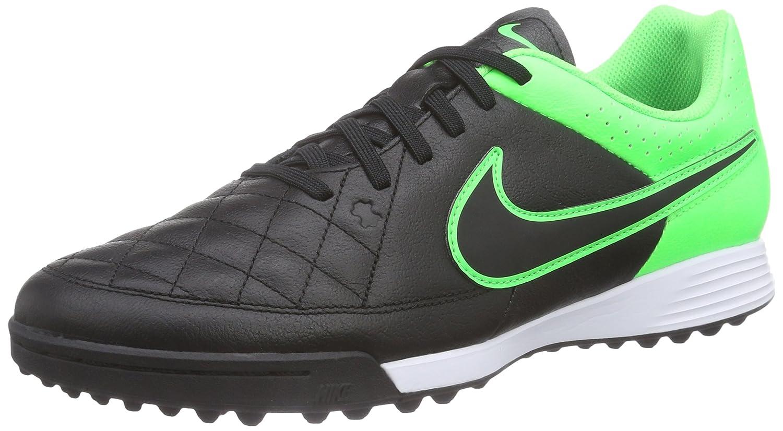 new concept 2b2b9 73c22 Amazon.com   Nike Tiempo Genio Leather TF (Black-Green)   Soccer