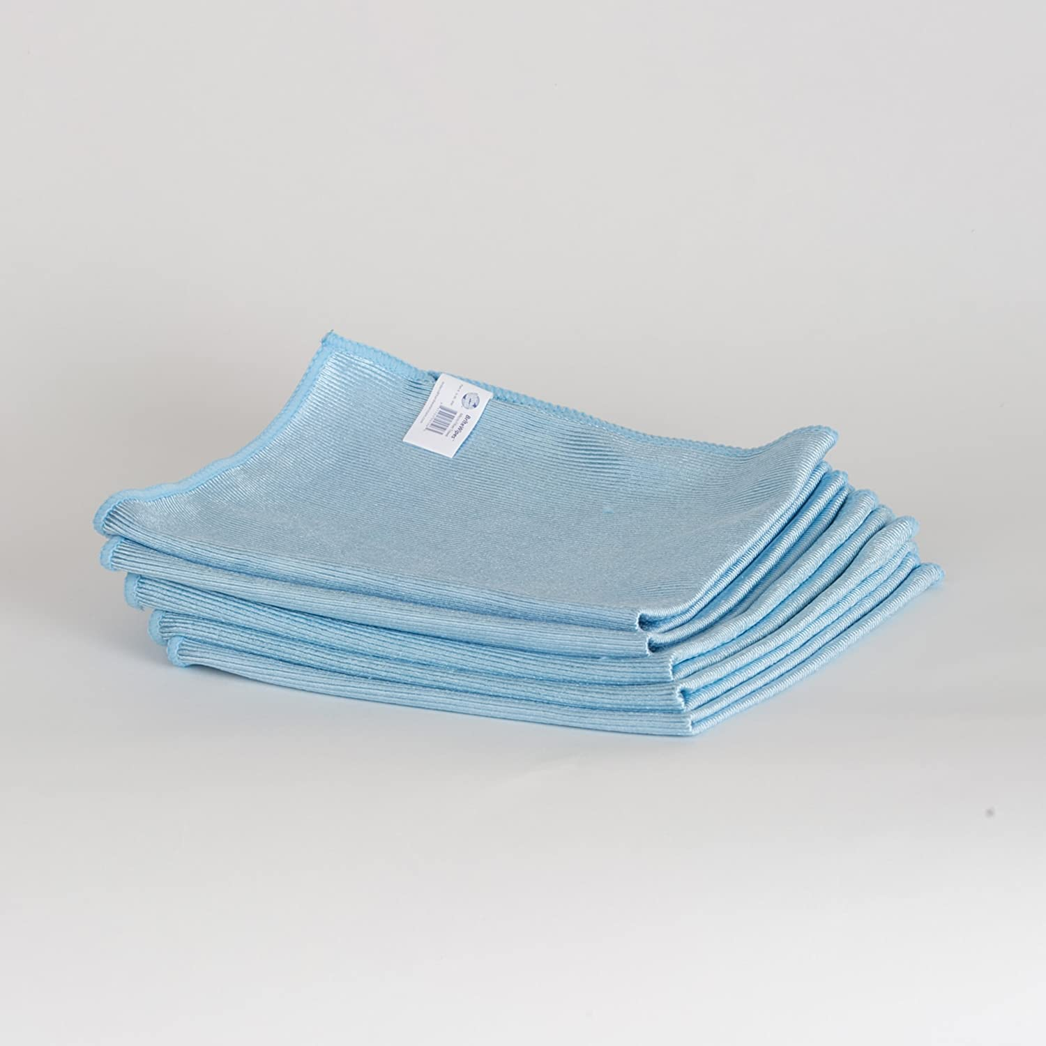 Microbrite Set of 3 Tea Towels Grey and Blue Microfibre Absorbent OR Hankie