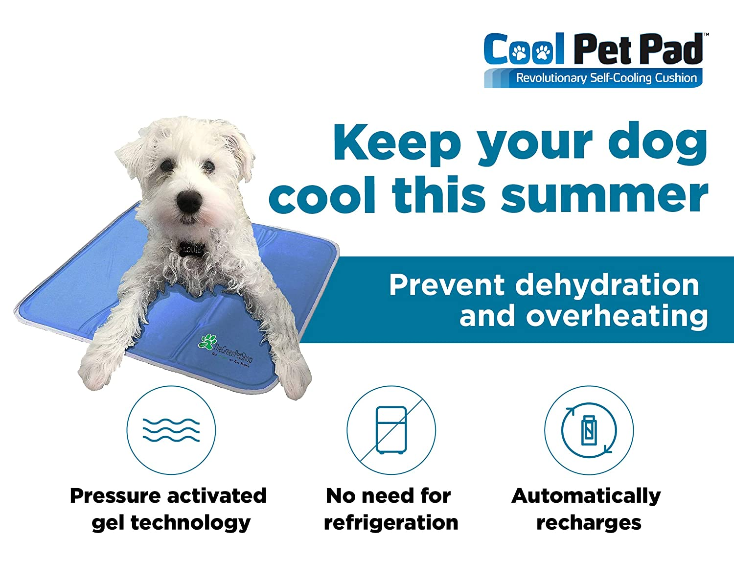 The Green Pet Shop Dog Cooling Mat - Pressure-Activated Gel Cooling Mat For  Dogs - This Pet Cooling Mat Keeps Dogs and Cats Comfortable All Summer -