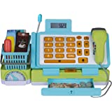 Playkidz Interactive Toy Cash Register for Kids - Sounds & Early Learning Play Includes Play Money Handheld Real Scanner Work