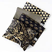 RUSPEPA Poly Mailers Shipping Bags Pretty Thick Self Adhesive Mailing Envelopes, 10x13 inches, 40 Pack - Black and Gold