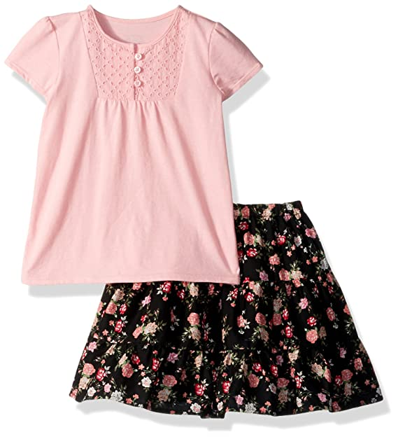 c9d5f7c5e62 Amazon.com  The Children s Place Baby Girls  Top and Skirt Set ...