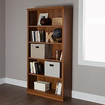 South Shore Morgan 5 Shelf Bookcase, Morgan Cherry