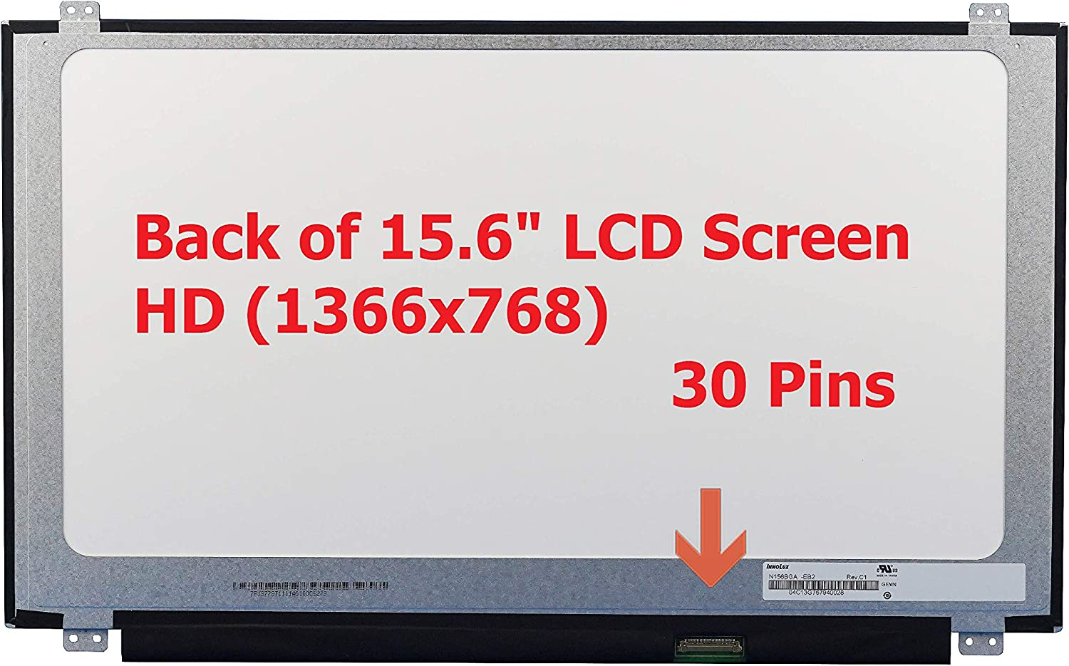 Fullcom New 15.6 inch HD Laptop Replacement LED LCD Screen Compatible with Probook 450 455 G2/ G3/ G4