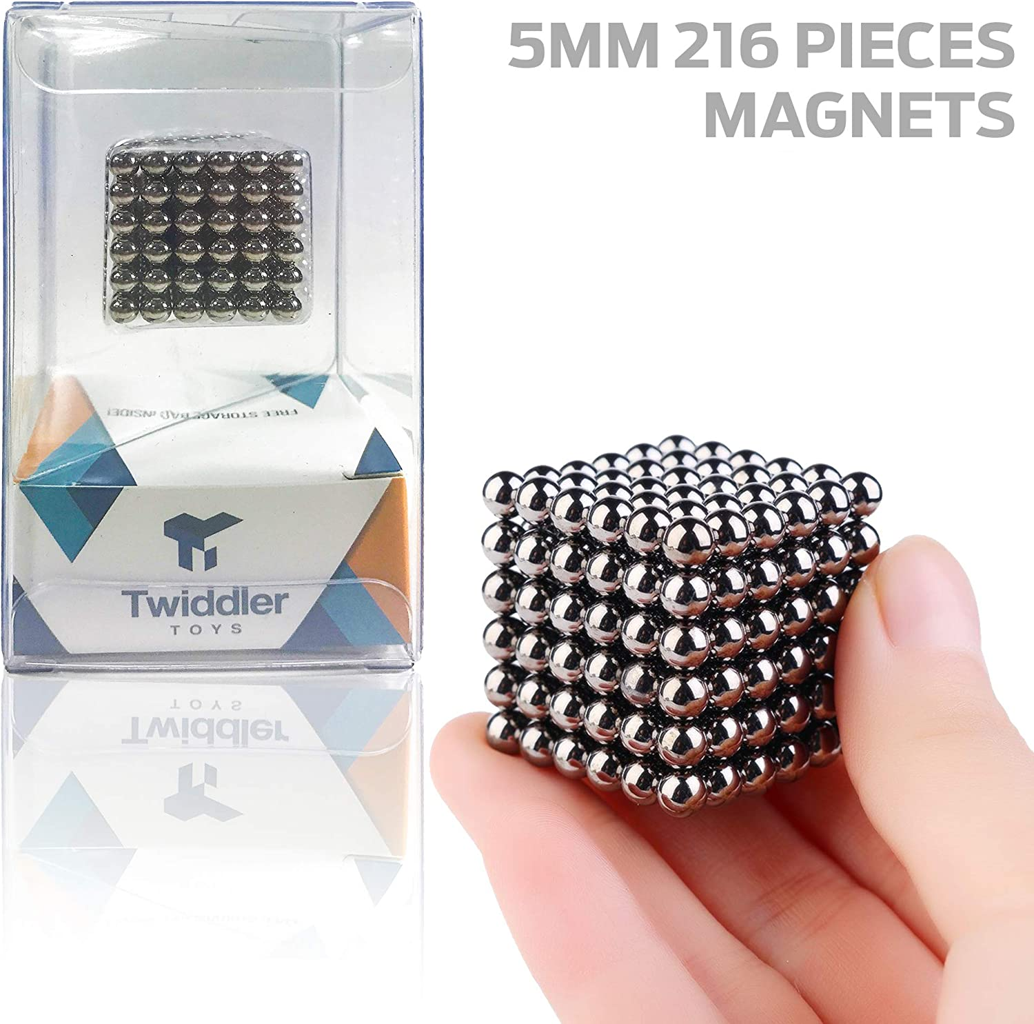 Twiddler Toys Upgraded 5MM 216pcs Magnets Sculpture Building Blocks Toys for Intelligence Learning -Office Toy & Stress Relief for Adults