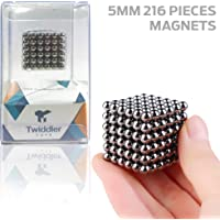 """Twiddler Toys Magnetic Balls 5mm 216pcs with Storage Bag €"""" Satisfying Fidget Magnets Desk Toy for Adults"""