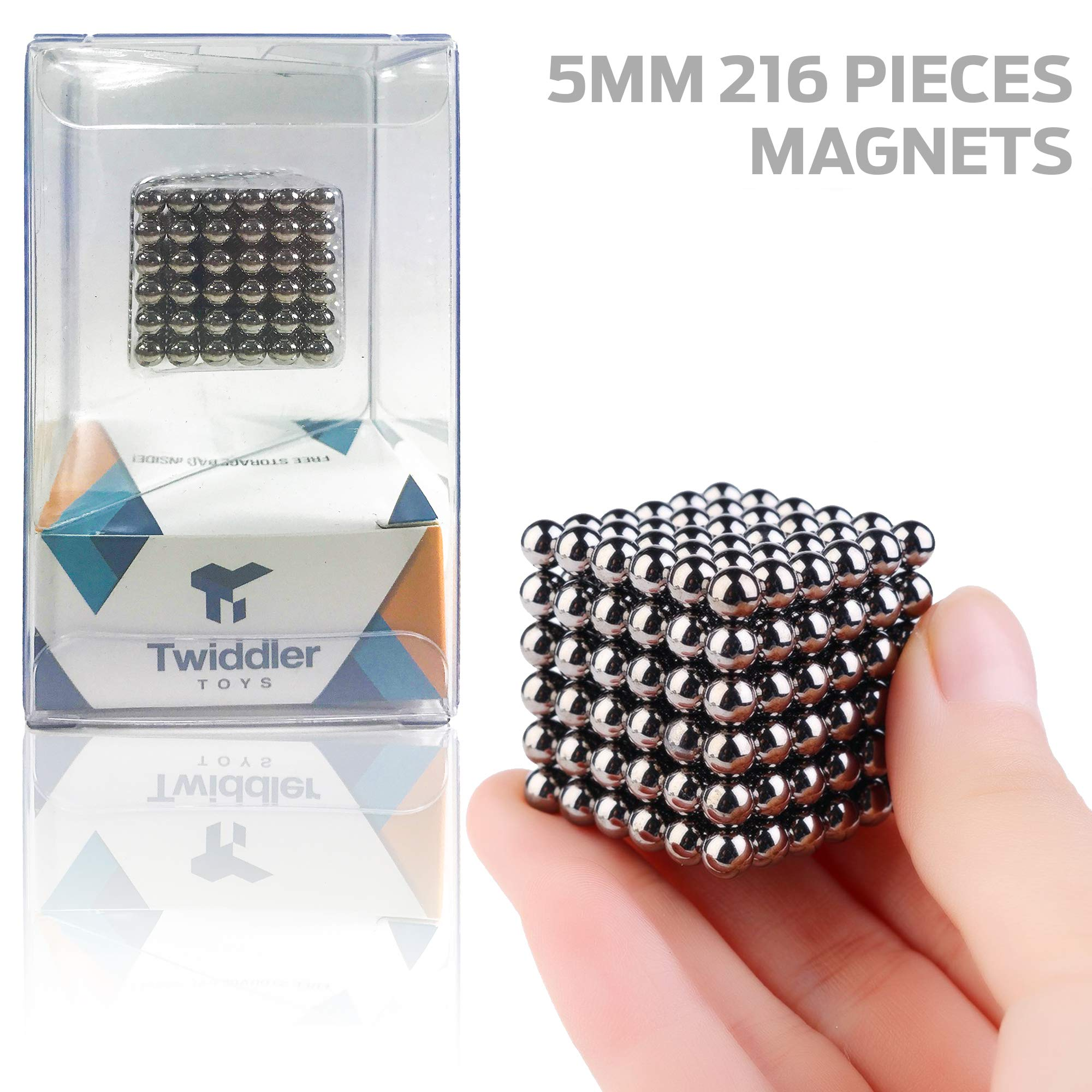Twiddler Toys Upgraded 5MM 216 Pieces Magnets Sculpture Building Blocks Toys for Sculpture Stress Relief Magnet Intelligence Development - Office Toy for Adults by Twiddler Toys