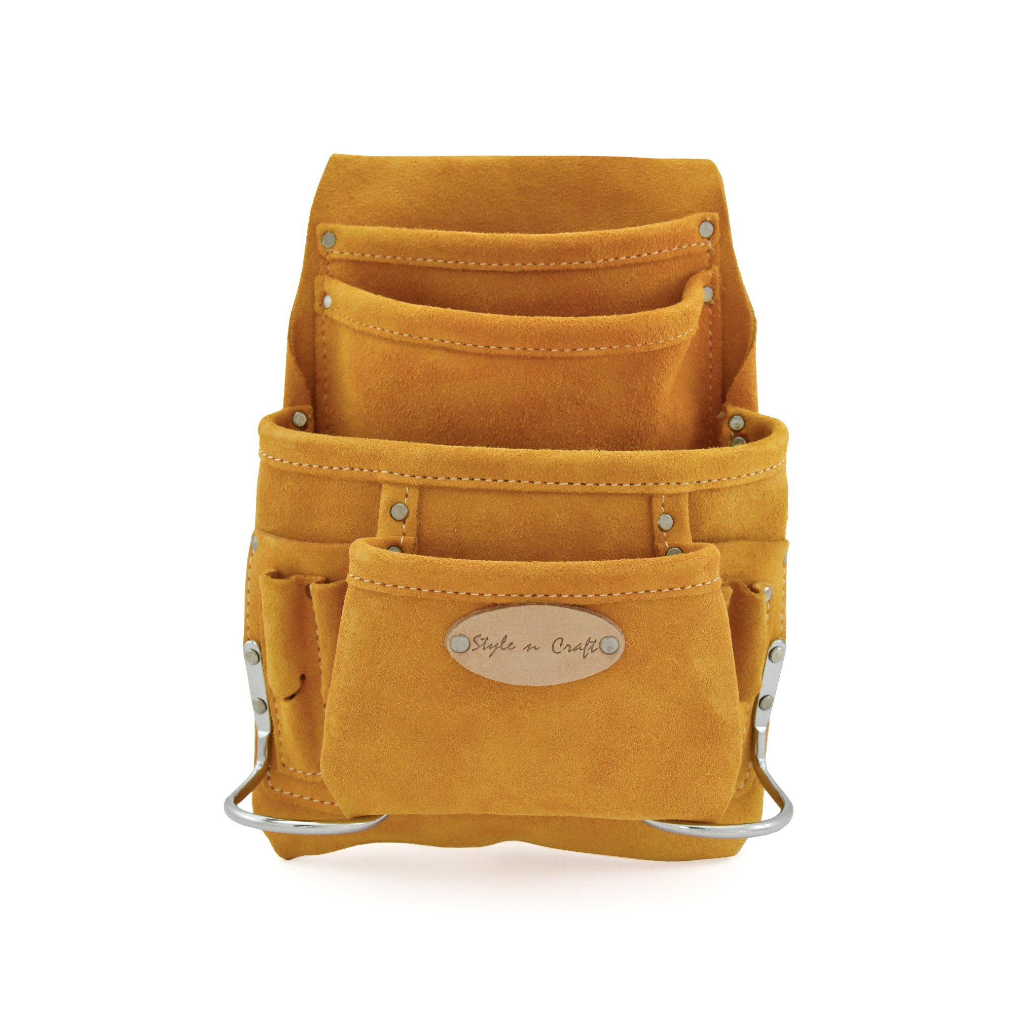 Style n Craft 91-923 10 Pocket Suede Nail and Tool Pouch