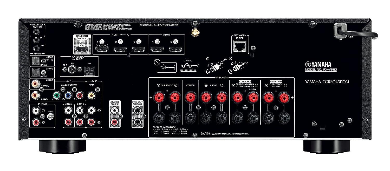 Yamaha RX-V683 7.2canales Envolvente 3D Negro - Receptor AV (7.2 canales, Envolvente, 105 W, 190 W, 125 W, 24-bit/192kHz): Amazon.es: Electrónica