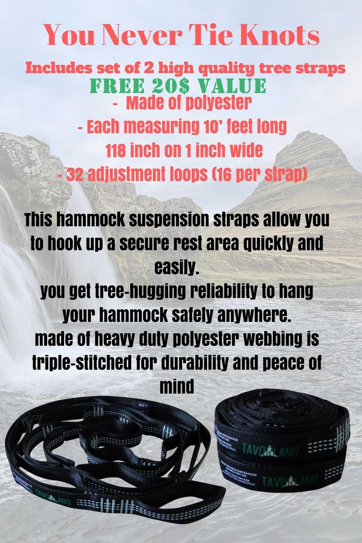 amazon com tavorland double camping hammock lightweight nylon