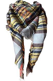 Zando Plaid Blanket Scarf Chunky Blanket Fall Stylish