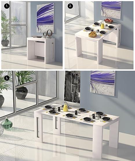 Table de salle à manger extensible 4-en-1 Style moderne 100 ...