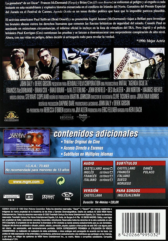 Agenda Oculta [DVD]: Amazon.es: Frances Mcdormand, Brian Cox ...