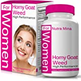 Horny Goat Weed Extract For WOMEN, Natural Booster For Best Performance with Maca Root, Muira Puama, L Arginine, Epimedium 1000mg & Icariins 100mg, Made in USA - 60 Capsules
