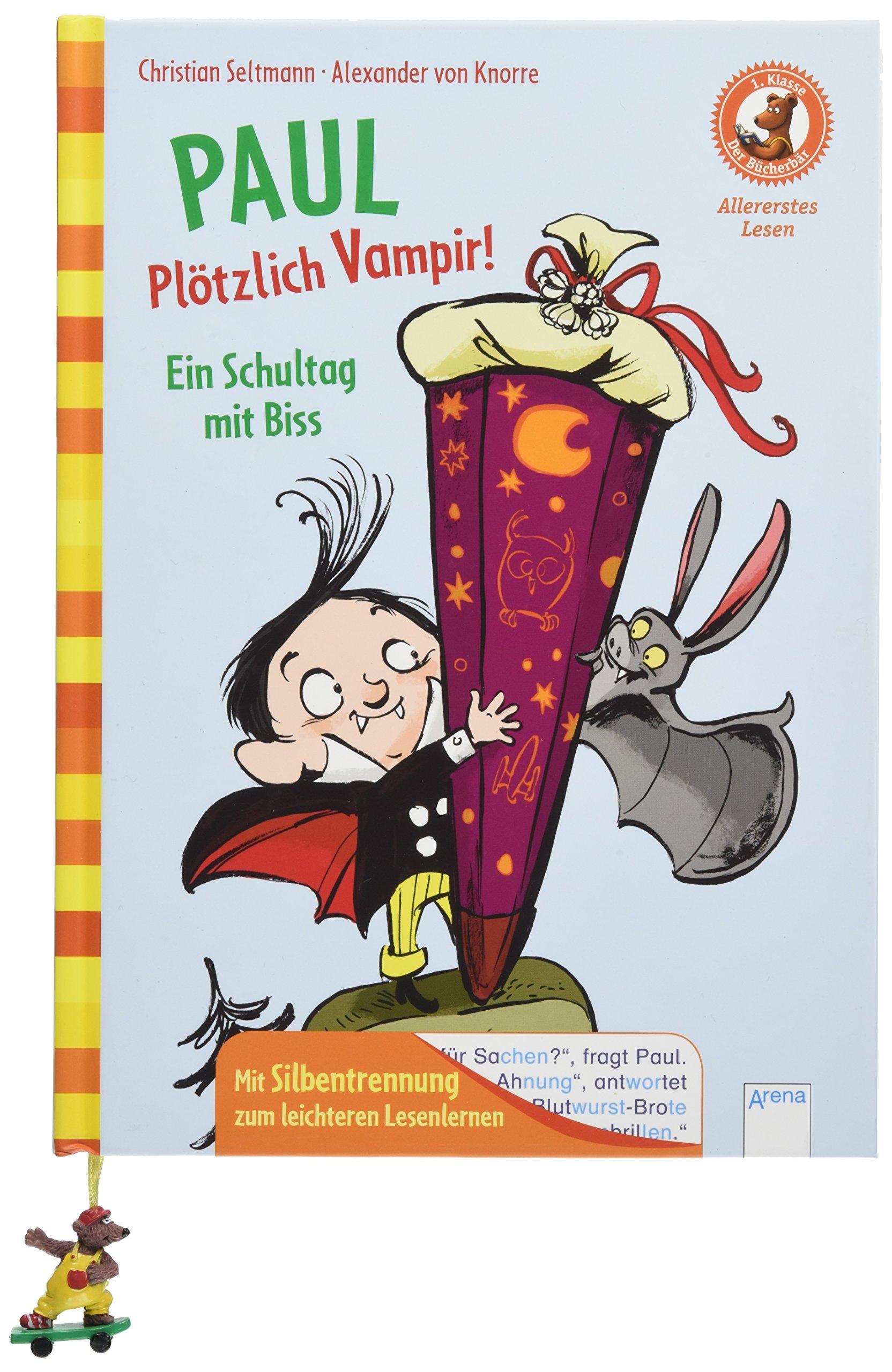 Paul. Plötzlich Vampir! Ein Schultag mit Biss: Der Bücherbär. Allererstes Lesen. 1. Klasse. Mit Silbentrennung zum leichteren Lesenlernen: