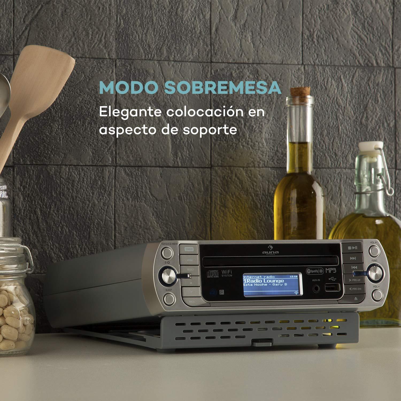 auna KR-500 CD Silver Edition - Radio de Cocina , Internet WiFi ...