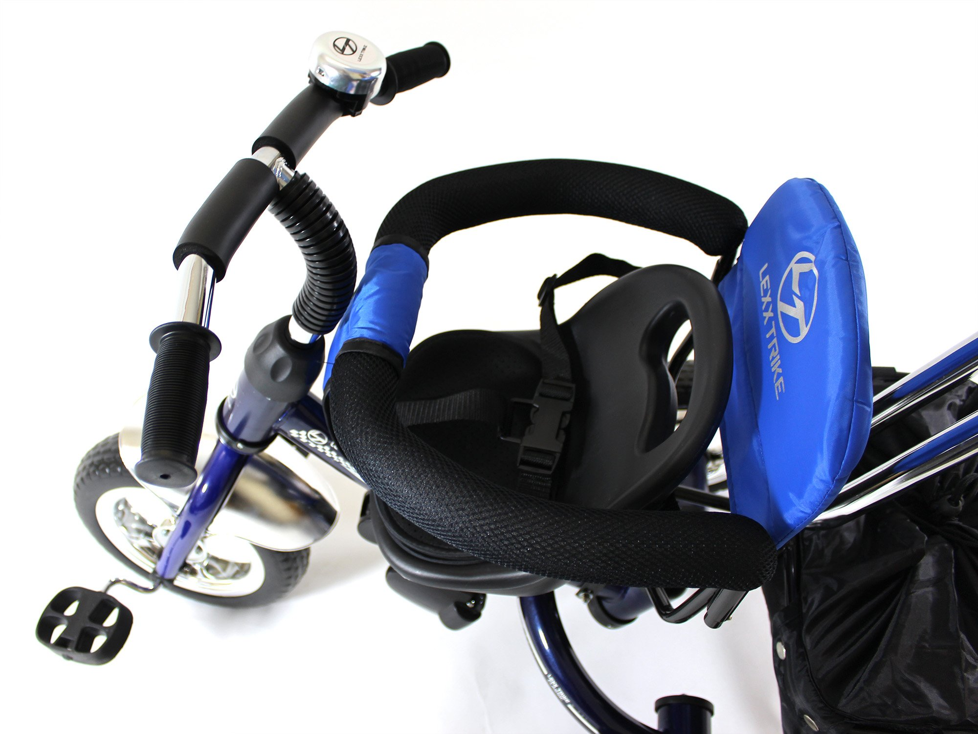4in1 Lexx Trike Classic Smart Kid's Tricycle 3 Wheel Bike Removable Handle & Canopy NEW BLUE by Lexx Trike (Image #7)