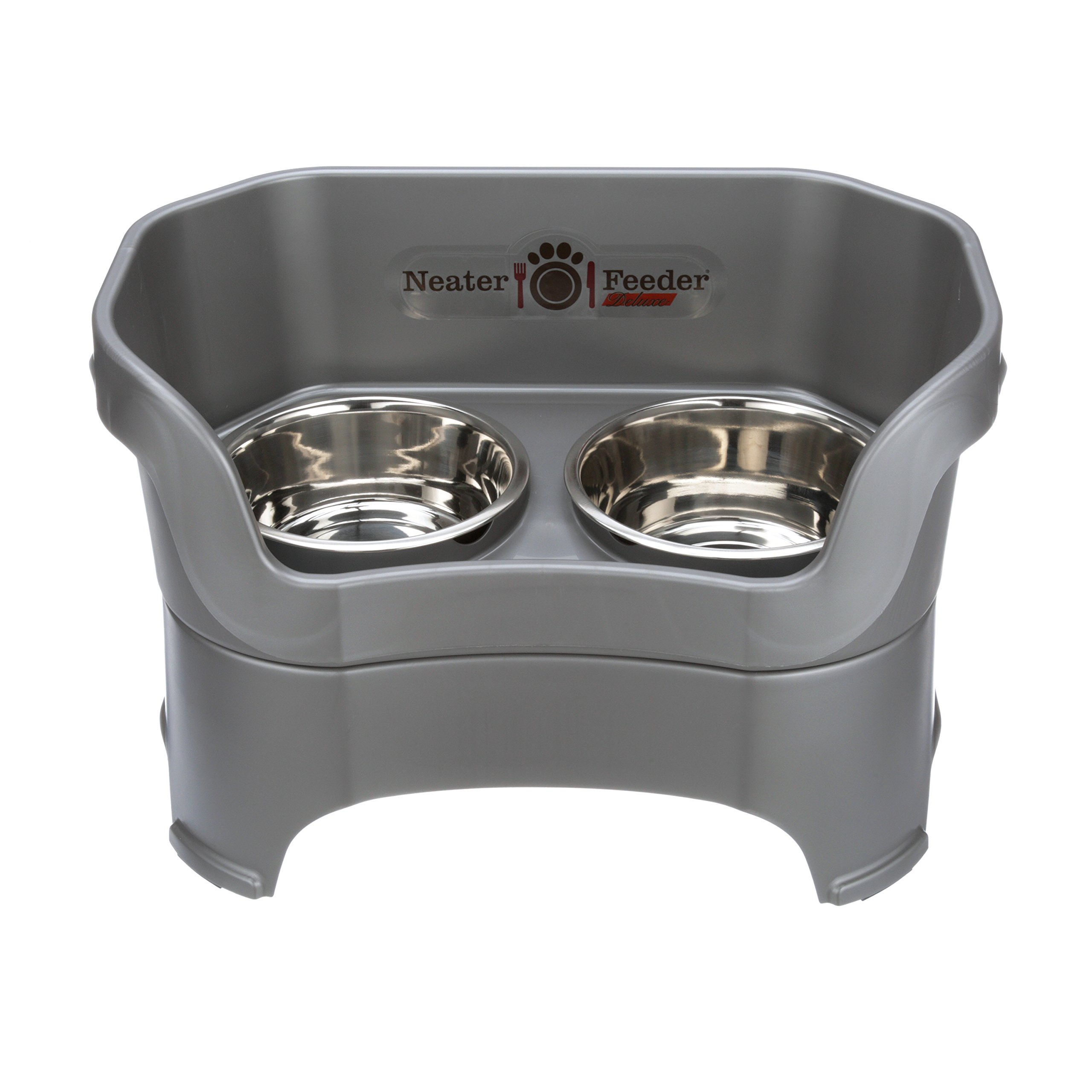 Neater Feeder Deluxe Dog (Large, Gunmetal Grey) by Neater Pet Brands