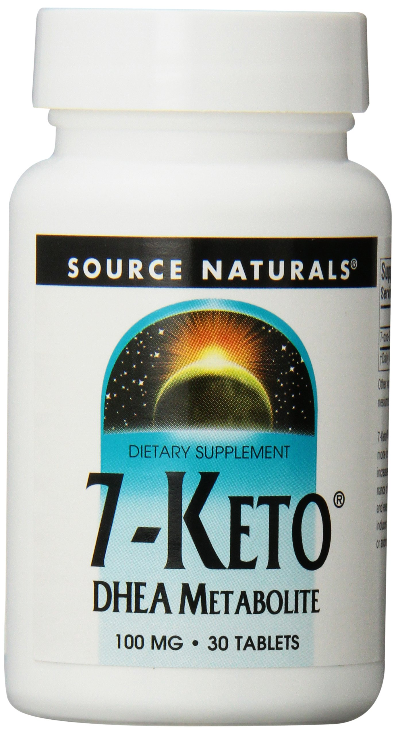 Source Naturals 7-Keto DHEA Metabolite 100mg, Effective Anti-Aging Compound, 30 Tablets