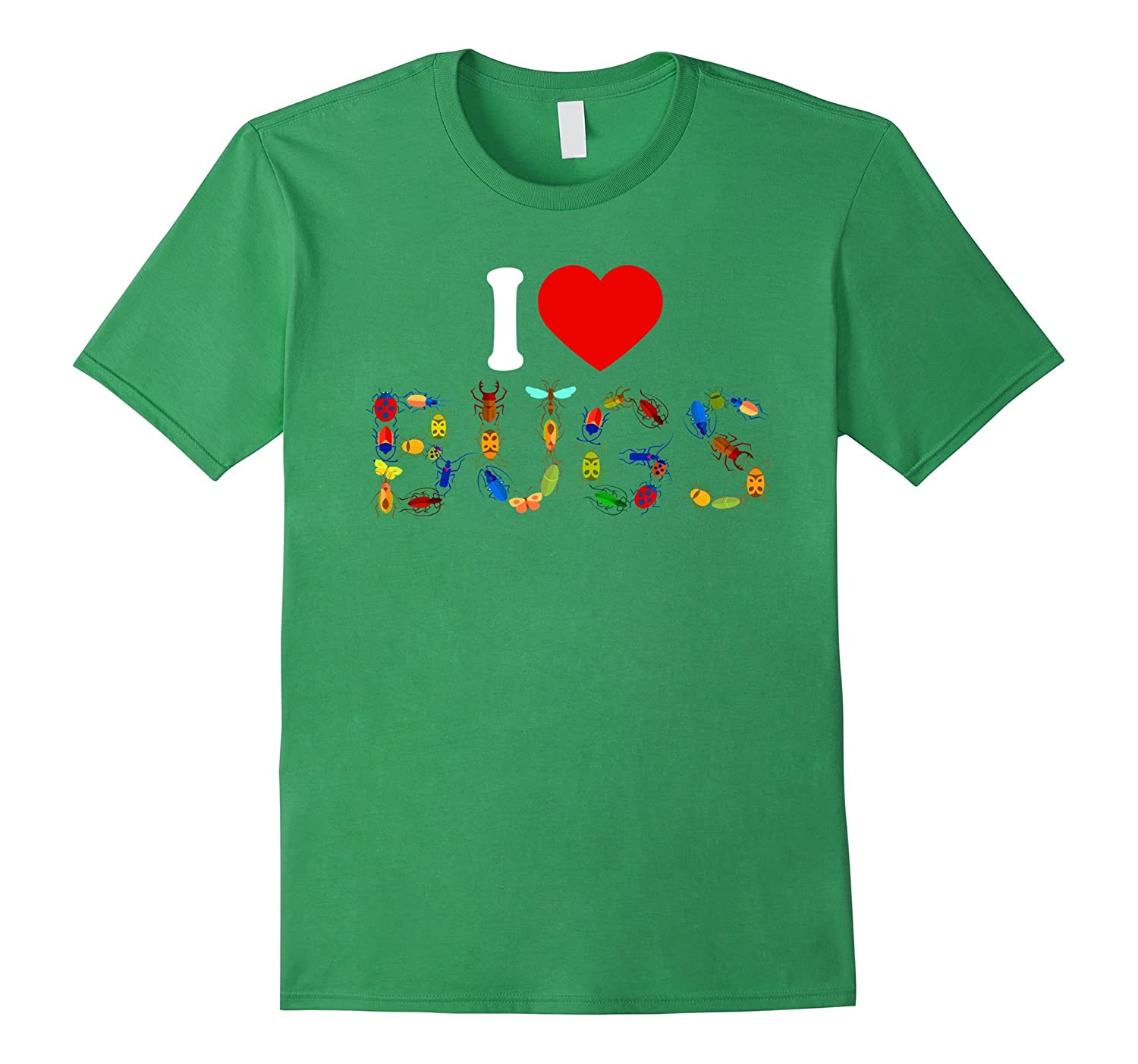 I Love Bugs T Shirt - Insect Print Shirt-ANZ