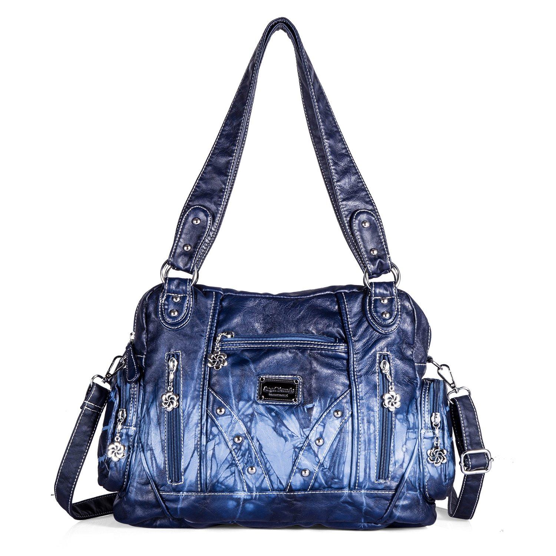 Soft Roomy Fashion Hobo Womens Handbags Ladies Purses Satchel Shoulder Bags Tote Washed Leather Bag (AK161513)