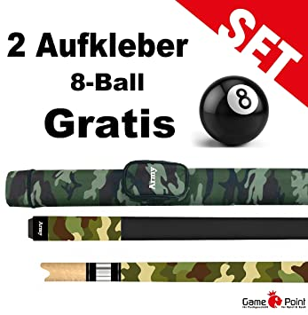 Womens Military Army Billiard Cue with Matching Container in the 8-Ball  Sticker + 2 FREE  Amazon.co.uk  Sports   Outdoors 5184537da