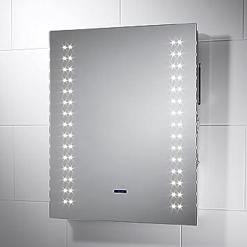 Tulare Bluetooth avec éclairage LED IP44-Miroir de salle de bain 500 ...