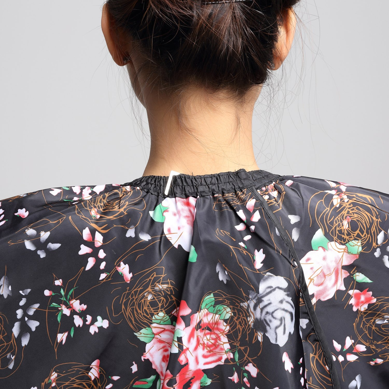 Salon Professional Hair Styling Cape,Colorfulife Hair Cutting Rose Flower Bronzing Waterproof Hairdresser Wai Cloth Barber Gown Hairdressing Wrap,55''x63'' K064 (Rose) by Colorfulife (Image #8)