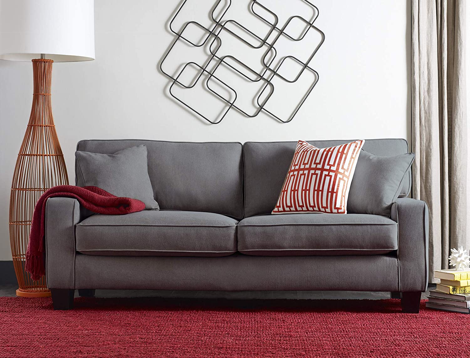 Pleasant Serta Deep Seating Palisades 78 Sofa In Essex Gray Onthecornerstone Fun Painted Chair Ideas Images Onthecornerstoneorg