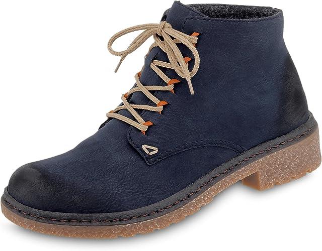 Rieker 53244 Damen Boots, Schnürstiefel, Schnür Boots, Stiefel