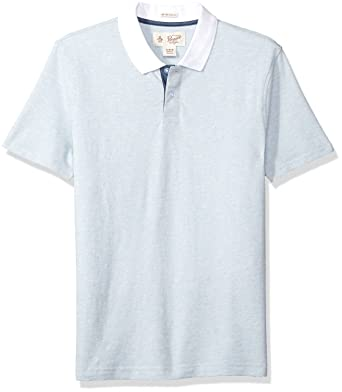Amazon.com  Original Penguin Men s Textured Pop with Contrast Collar ... 277d0ce4b5d55