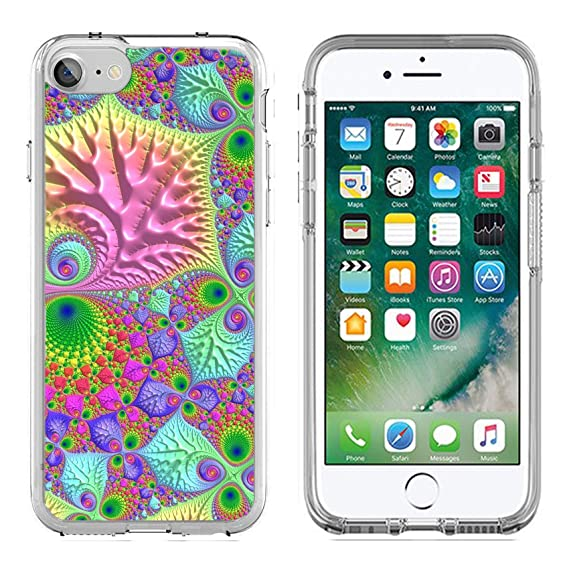 MSD Apple IPhone 7 8 Clear Case Soft TPU Rubber Silicone Bumper Snap Cases