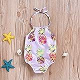 Mini honey Baby Girl Pineapple Print Backless
