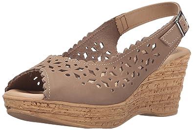 Spring Step Women's Chaya Wedge Sandal, Beige, ...