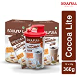 Soulfull Millet Smoothix- Cocoa Lite Protein Drink, 12 Sachets  Free Shaker