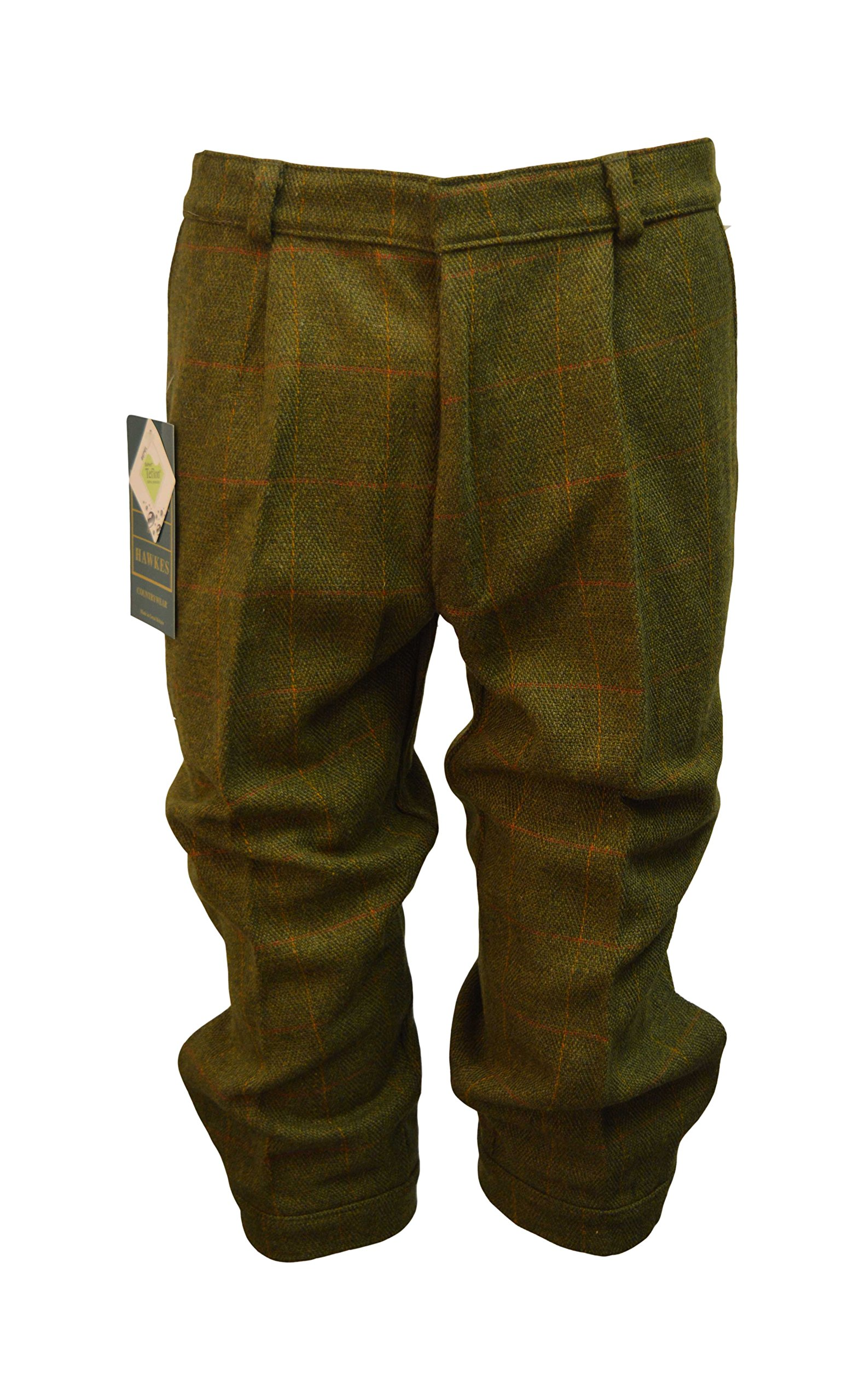 Walker and Hawkes Men's Derby Tweed Shooting Plus Fours Breeks Trousers 40 Dark Sage