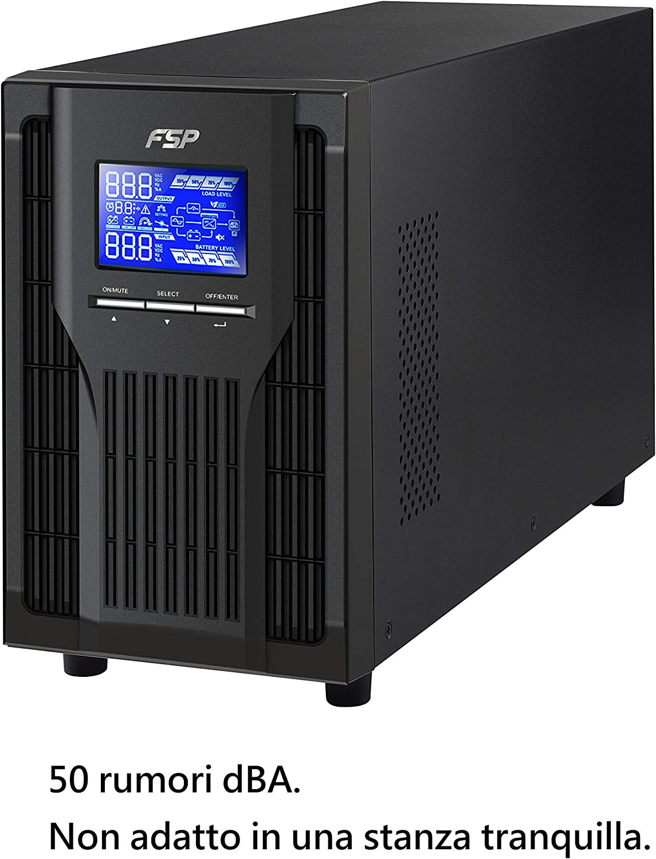 FSP PPF8001305 Fortron Champ Tower 1K, UPS online de doble conversión, USB, 1000 VA/900 W, Negro
