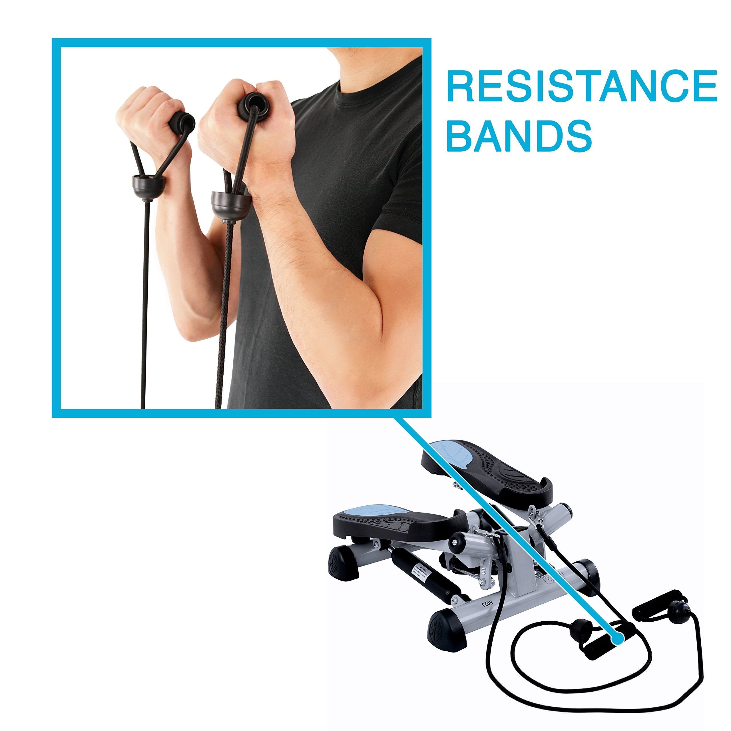 EFITMENT Twist Fitness Stepper Step Machine with Resistance Bands for Fitness & Exercise - S023 by EFITMENT (Image #2)