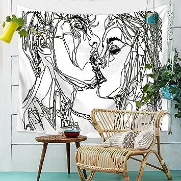 Beautiful HANSHI Wandteppich Modern Weich Dünn Wandbehang Wandtuch Tischdecke  Strandtuch Aus Leichtem Polyster Wanddeko Dekoration Für Ihr