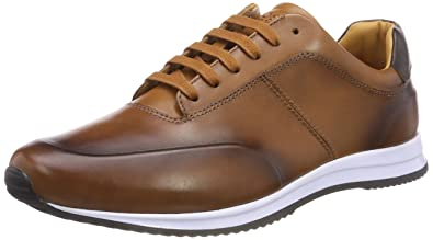 Boss Herren Legacy_Runn_Burs Sneaker, Braun (Medium Brown 210), 41 EU HUGO BOSS