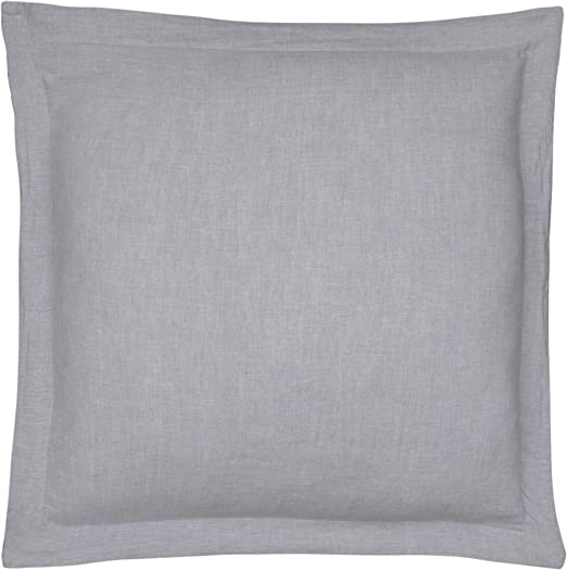 Sham Size Washed Linen in Charcoal Standard Sham 26 x 20in. 100/% Linen Levtex Home
