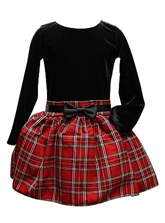 tolle Passform Bestbewertete Mode auf Lager BIMARO BIMARO Mädchen Kleid Alice Samtkleid Festkleid Rot ...